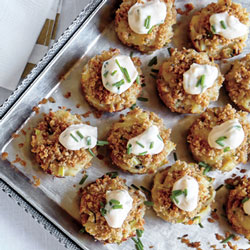 Healthy Holiday Appetizers - Mini Crab Cakes