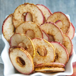 Healthy Holiday Appetizers - Cinnamon Apple Chips