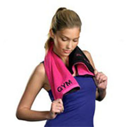 Health and Wellness stocking stuffer anti germ gym towel