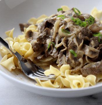 beef stroganoff skinny recipe