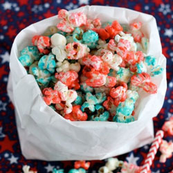 Healthy 4th of July Popcorn