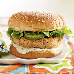 4th of July Healthy Salmon Burgers