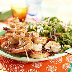 4th of July Healthy Shrimp Skewers