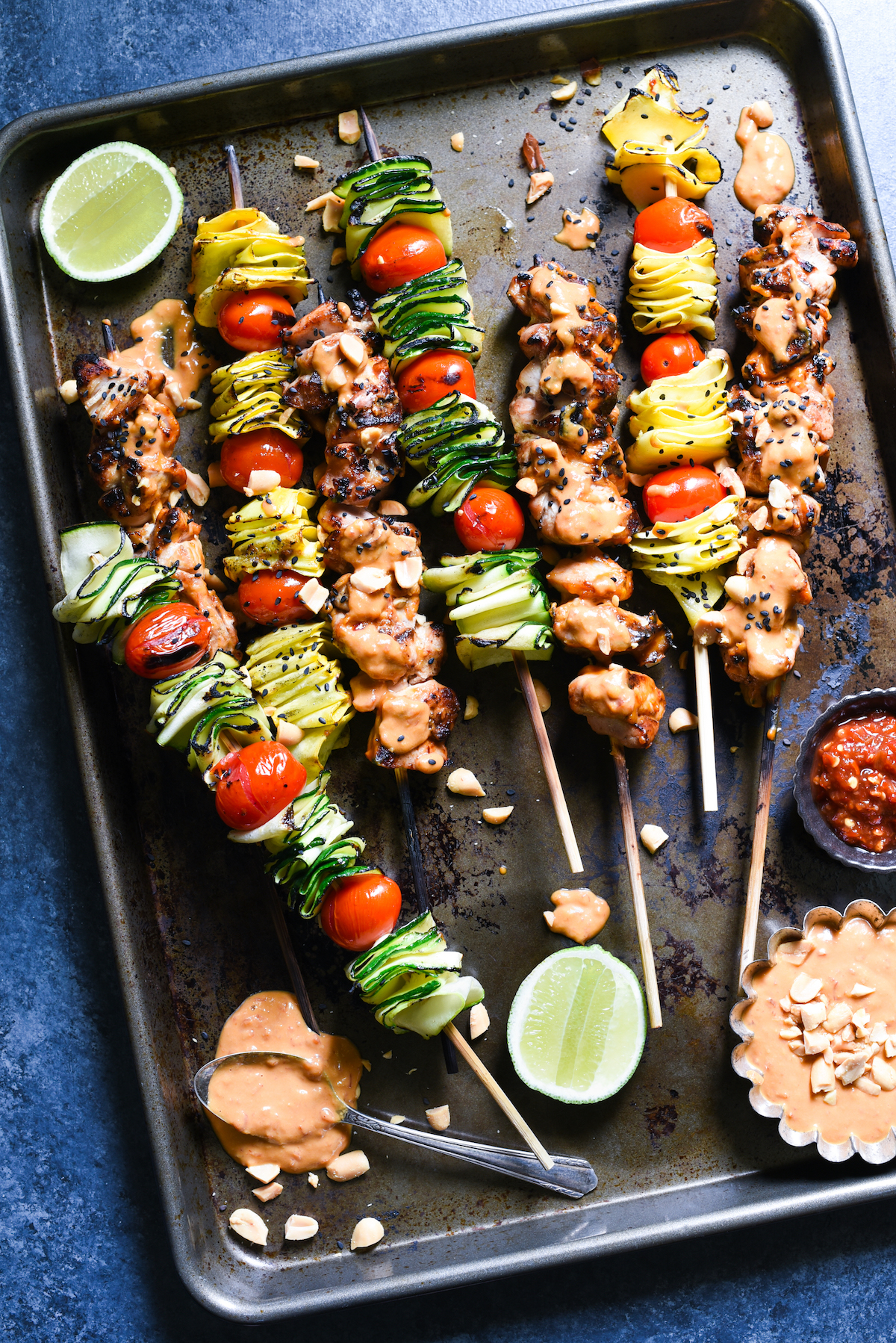 Spicy-Peanut-Chicken-Skewers