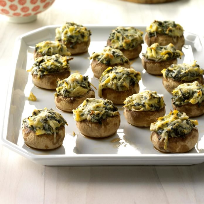 spinach-artichoke-stuffed-mushrooms