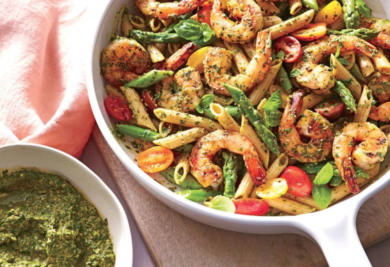 Shrimp with pesto