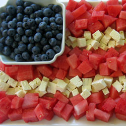 Healthy 4th of July Feta Flag