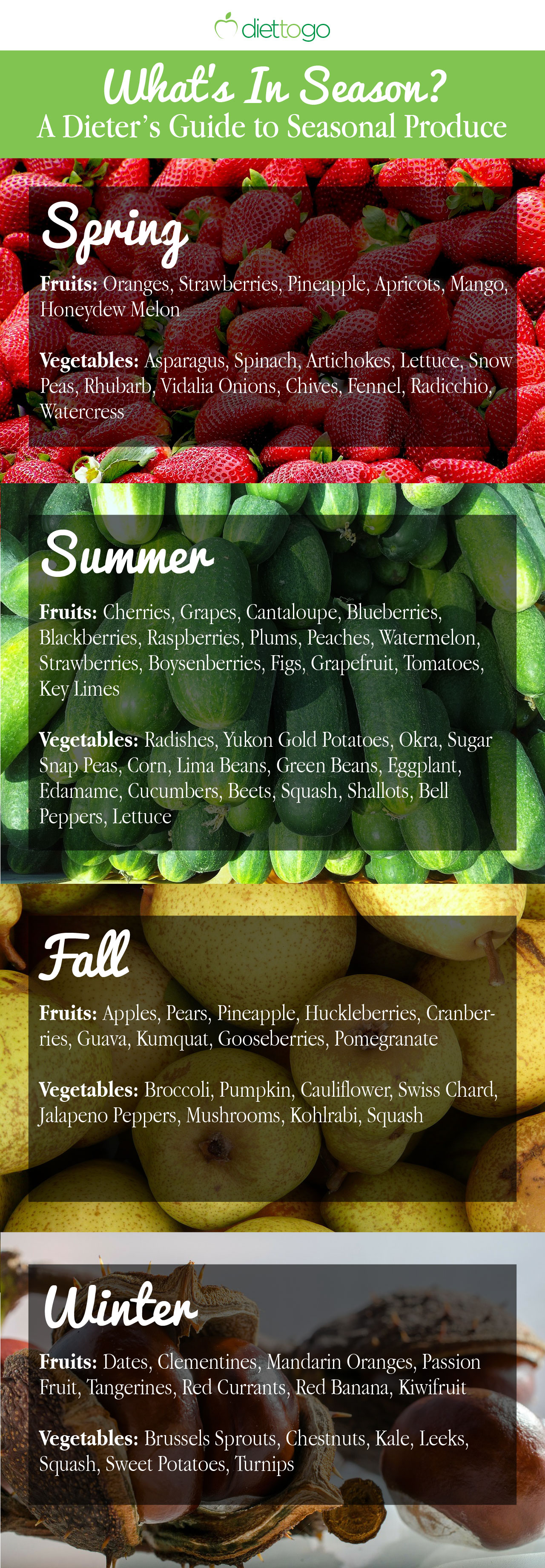 What's in season? A Dieter's Guide to Seasonal Produce