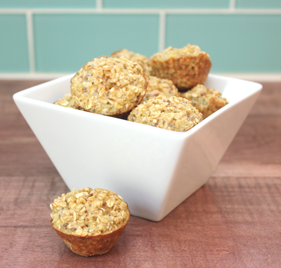 Healthy mini muffin beach snack
