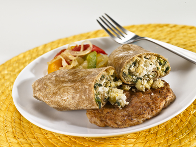 Greek Breakfast Burrito